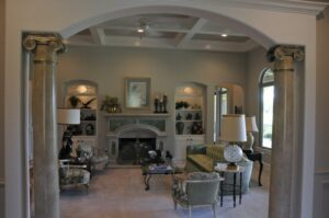 Bayless Custom Homes - Custom Homes Tyler - The White Home Living Room San Antonio Custom Home Builders