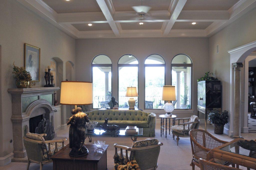 Bayless Custom Homes - Custom Homes Tyler - The White Home Living Room Windows
